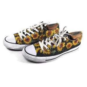 Converse Size 9 Sunflower Chuck Taylor Low Top